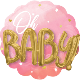 Oh Baby, Girl Folieballon 30 inch