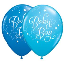 Baby Boy stars ballonnen, 5 stuks