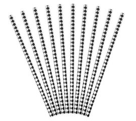 Papieren Rietjes Diamant Patroon (10 st)