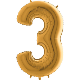 XXL Cijferballon 3 Gold