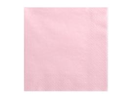 Servetten, licht roze