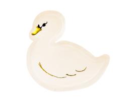 Lovely swan bordjes, 6 st
