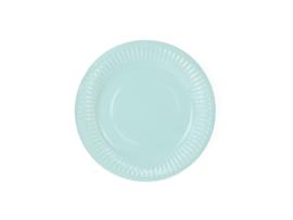 Papieren bordjes turquoise (6 st)