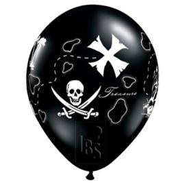 Pirate Schatkaart Ballon, 5 stuks