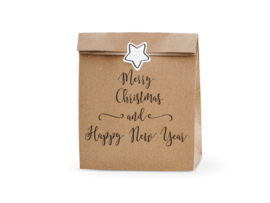 Kraft gift bags: Merry Christmas and Happy New Year