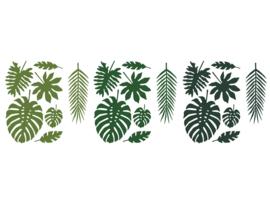 Papieren decoratie bladeren