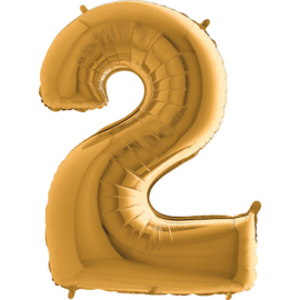 XXL Cijferballon 2 Goud