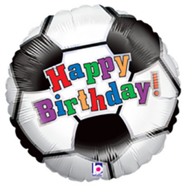 Happy Birthday Voetbal 18inch/45cm