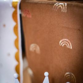Rainbow Love Velvet Caramel Tafelloper 28cm x 3 m