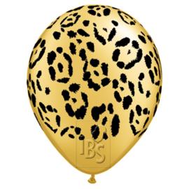 Ballon Luipaardprint, 5 stuks