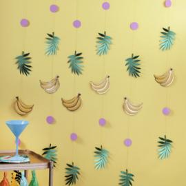 Bananen en bladeren backdrop
