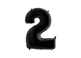 XXL Cijferballon 2 Black