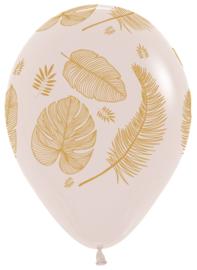 Tropische bladeren goud bedrukt 5 stuks