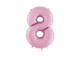 XXL Cijferballon 8 Pastel Pink
