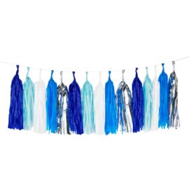 Tasselslinger blauw DIY