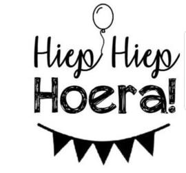 Strijkapplicatie: Hiep Hiep Hoera