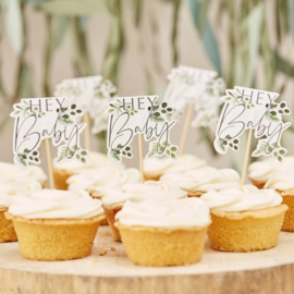 Hey Baby Cupcake Toppers