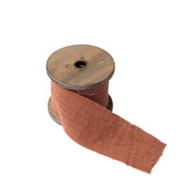 Lint gaze de coton, oud roze, 4.5cm x 3m