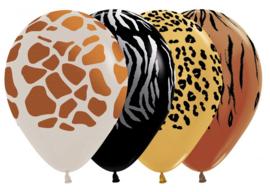 Bedrukte ballon Animal Print (8 st)