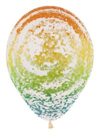 Graffiti rainbow ballon (5 stuks)