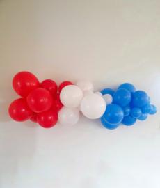 Rood-Wit-Blauwe diy ballonslinger