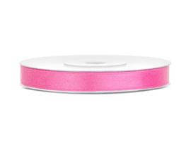 Satijn lint roze, 6mm - 25m
