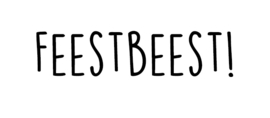 Strijkapplicatie: Feestbeest!
