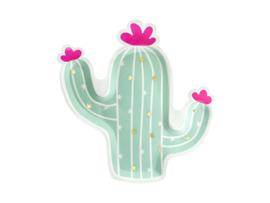 Cactus bordjes 6 stuks