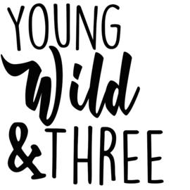 Strijkapplicatie: Young, Wild & Three