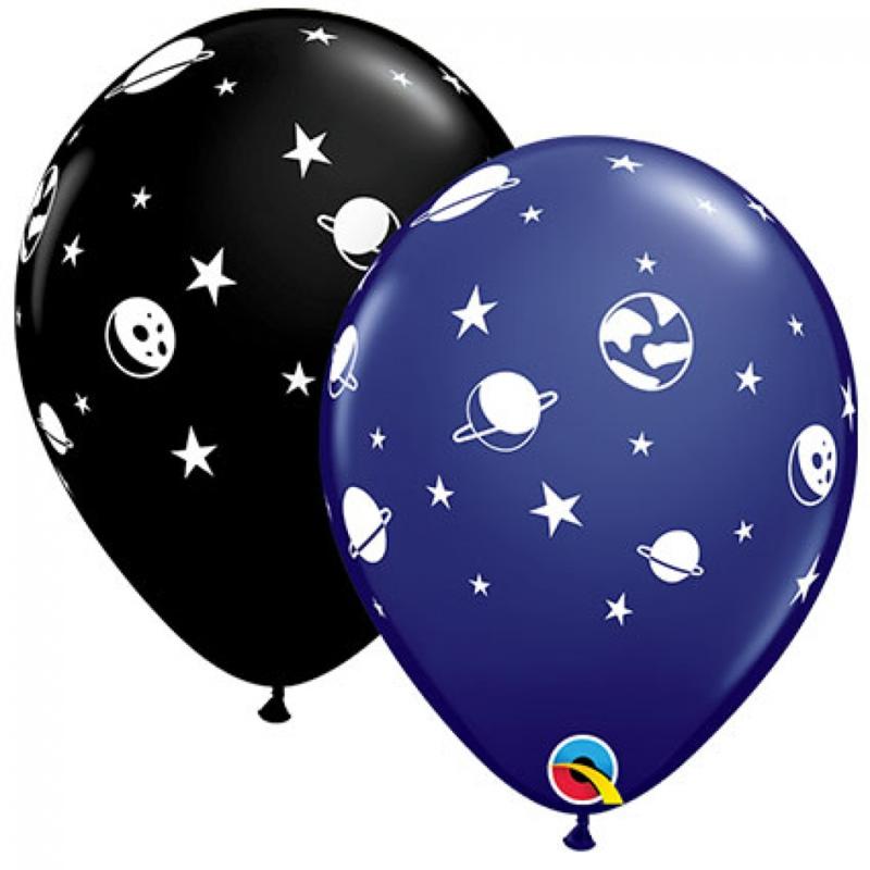 Bedrukte ballon: Space, 5 stuks