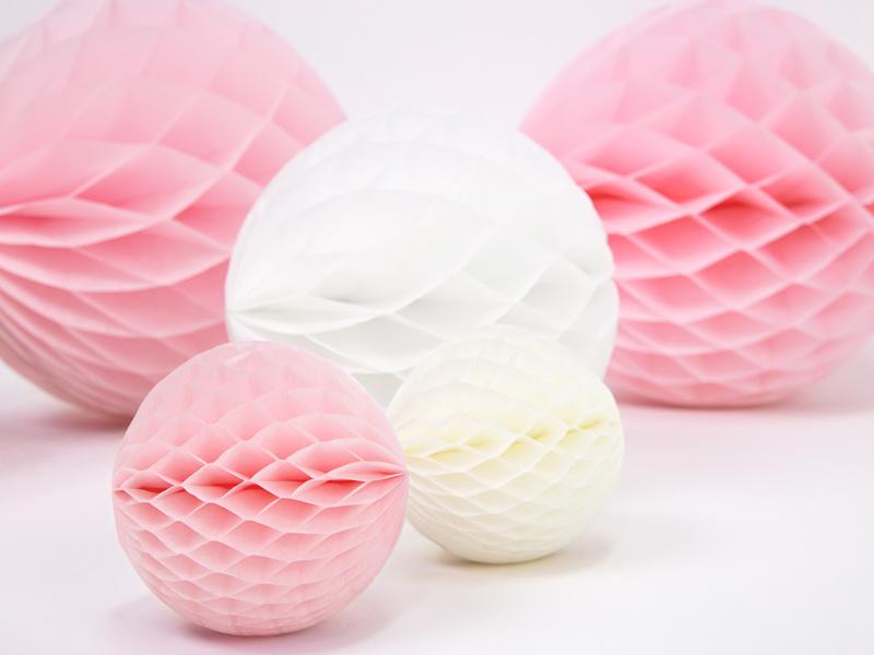 Honeycomb bal licht roze