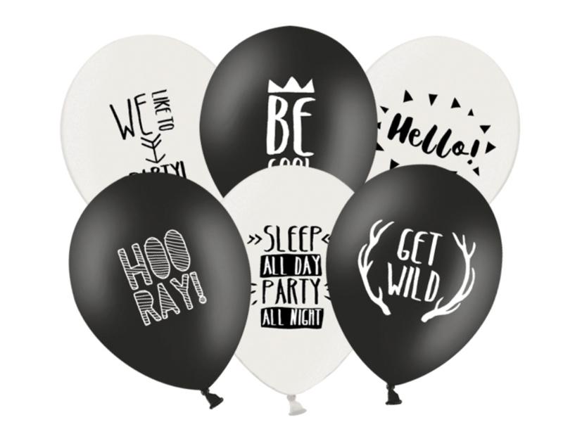 Ballonnen Happy Party Mix (6 st)