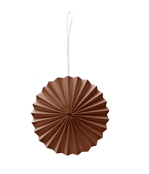Caramel kleurig ornament