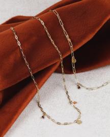Garnet chain necklace