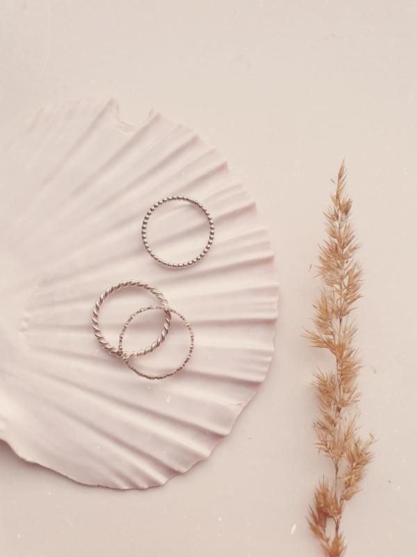 Set Blossom zilver