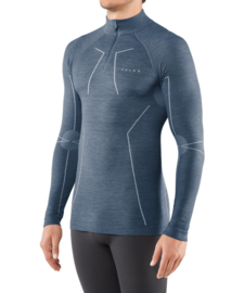 Falke - Lange mouwen shirt met rits - Capitain - Scheerwol