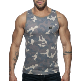 Addicted Washed Camo Tank-Top