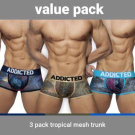 Addicted Tropical Mesh Boxers met Push-Up