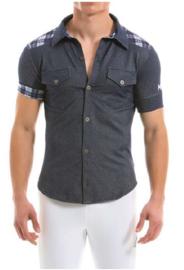Modus Vivendi Jeans Shirt Blauw