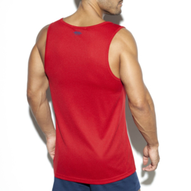 Training Singlet van E.S Collection Rood