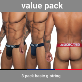 Addicted 3 Pack Basic G-String