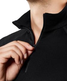 Falke Lange mouwen shirt extra warm met rits - zwart