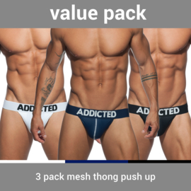 Addicted 3 Pack Mesh String Push-Up