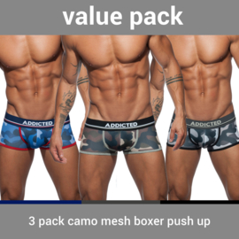 Addicted 3 Pack Mesh Boxer Camouflage