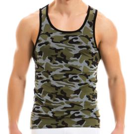 Modus Vivendi Camouflage Singlet Khaki