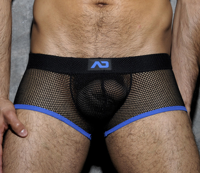 Addicted Fetish Mesh Short Boxer Blauw