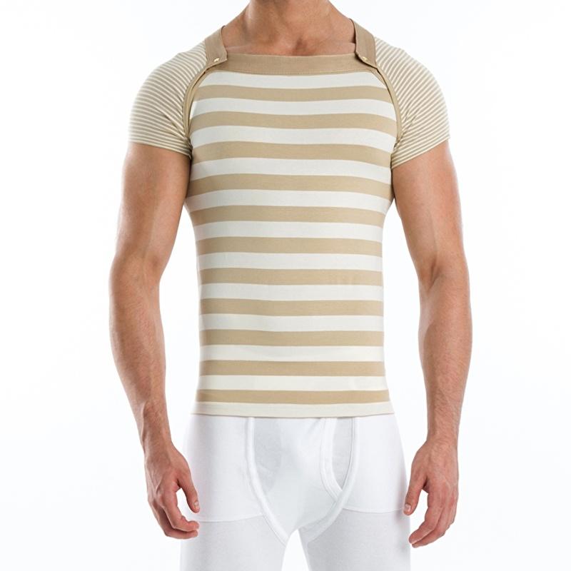 T-Shirt Modus Vivendi Wide Multi-shirt Zandkleur