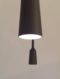 ***SALE*** Lamp&Socket set Coal Grey   red wire