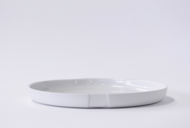 Plate large (high rim) | White