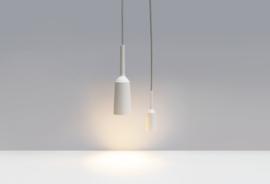 Lamp&Socket Set White | Light grey wire